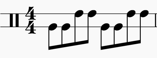 two-line-bongo-notation-eighth-notes-on-two-ledge-lines